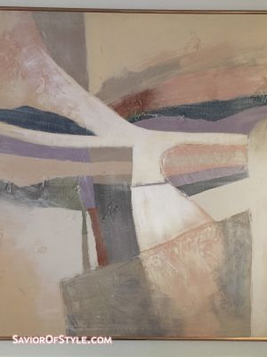 SOLD - Mid-Century Large Abstract Painting