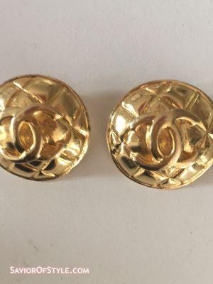 Vintage Gold Chanel Inspired Earrings