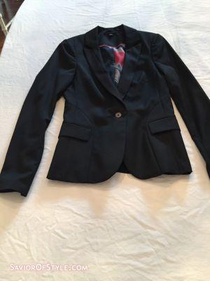 Ted Baker Womens Black Tuxedo Blazer