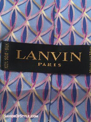Vintage Lanvin Blue Silk Tie