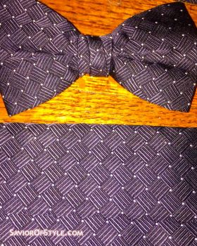 Jos. A. Banks Cummerbund and Bow Tie Set - Black with Silver Dots