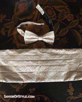Jos. A. Banks Bow Tie and Cummerbund Set - Champaign
