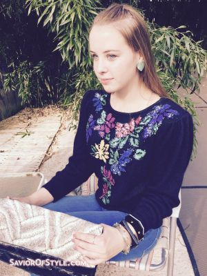 SOLD - Vintage 1980s Sequin and Angora Sweater