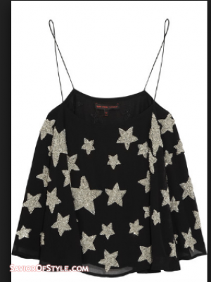 SOLD - Top Shop - Kate Moss Star Sequin Camisole