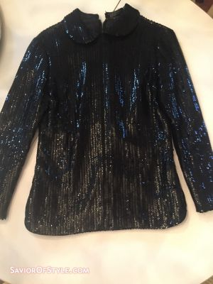 Vintage Sequin Collared Top - Union Made