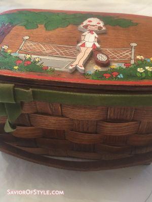 SOLD - Vintage Wicker Basket Purse
