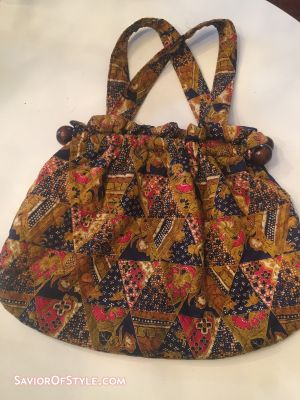 Vintage Boho Chic Quilted Purse