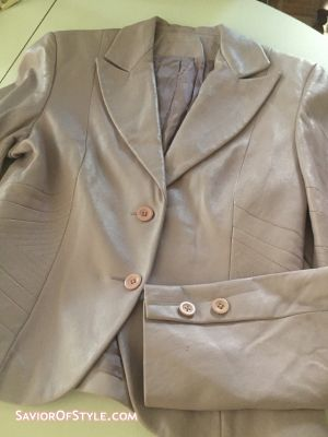Vintage Lavender Leather Jacket