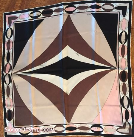 SOLD - Vintage Pucci Pink Geometric Patterned Scarf