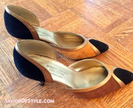 SOLD - Vintage Spanish Leather Collection by Sergio Zelcer Pumps