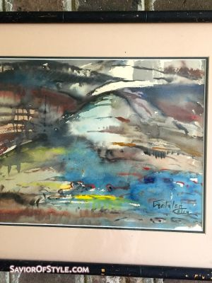 SOLD - Mid-Century Abstract Watercolor by Fentalen