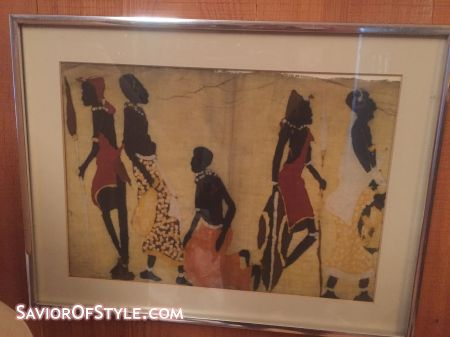 SOLD - Vintage African Batik on Tribal Cloth