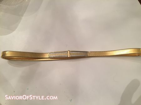 SOLD - Vintage Accessocraft Gold Metal Stretch Belt