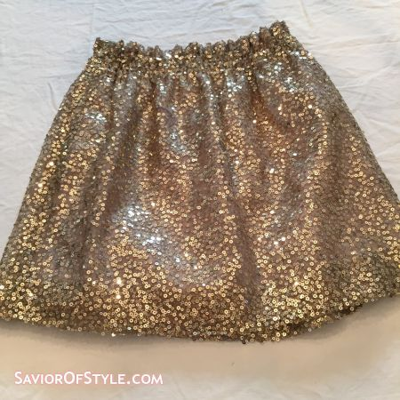 J. Crew Gold Sequin Mini Skirt