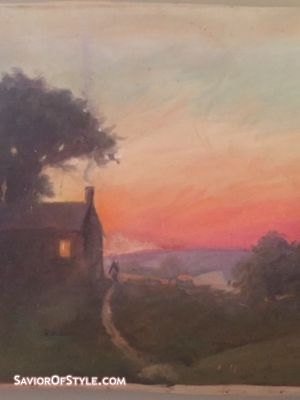 Mid-Century Original F. Howard Landscape Oil Painting