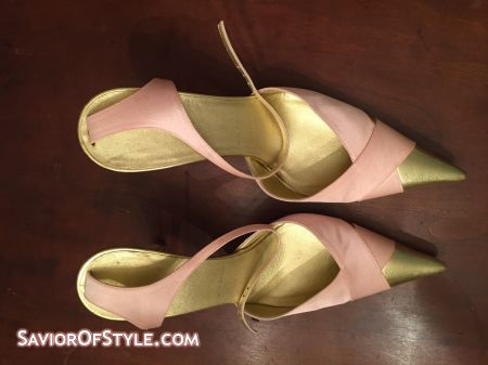 SOLD - Escada Pink Satin Heels